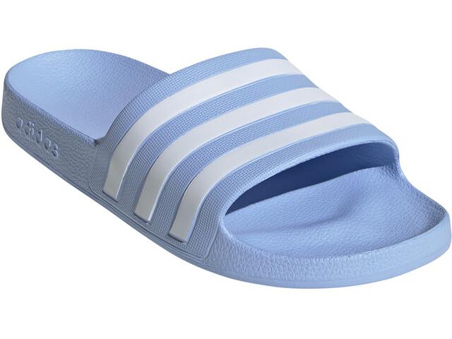 adidas Adilette Aqua Slides Women glossy blue/footwear white/glossy blue